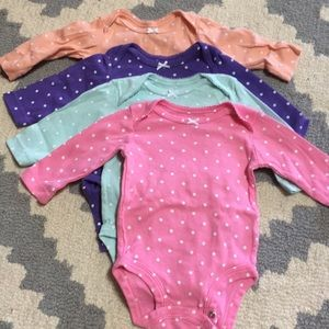 Carter's One Pieces - Baby girl long sleeve onesies